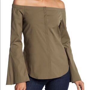 Theory Auriana Bell Sleeve Top